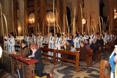Domingo de Ramos, ofrenda a la Virgen del Pilar.