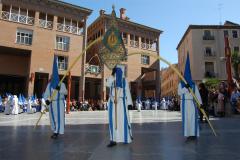 Guión de representación en Plaza de San Bruno.