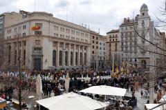 Paso titular en Plaza de España.