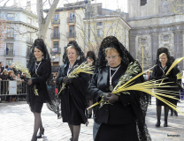 Manolas en Domingo de Ramos.