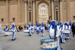 Sección de tambores, timbales y bombos.