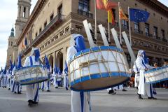 Sección de instrumentos en Viernes Santo. Autora: Eugenia Aragonés.