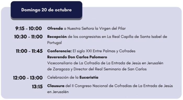 domingo 20 octubre congreso