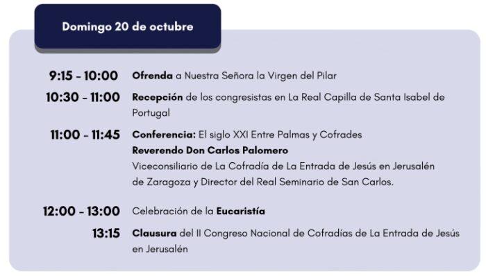 programa domingo II congreso nacional